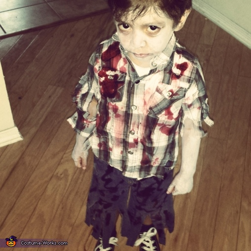 carrson the Zombie, Lil Edward Scissorhands Costume