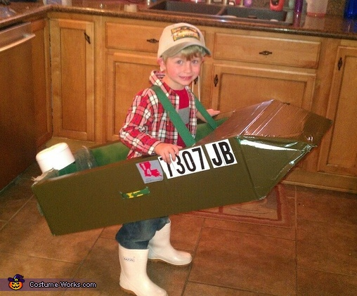 Lil Fisherman with his Trawl Boat Costume