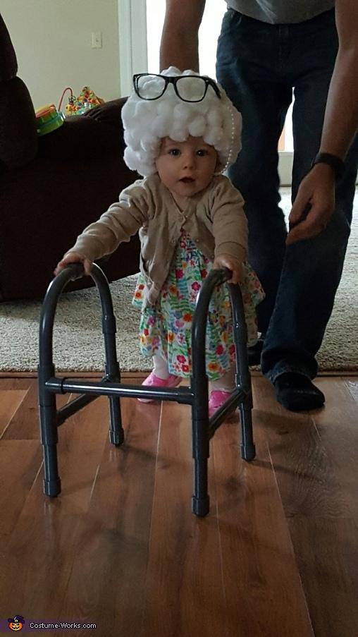 Hello, Lil Granny Paisley Costume