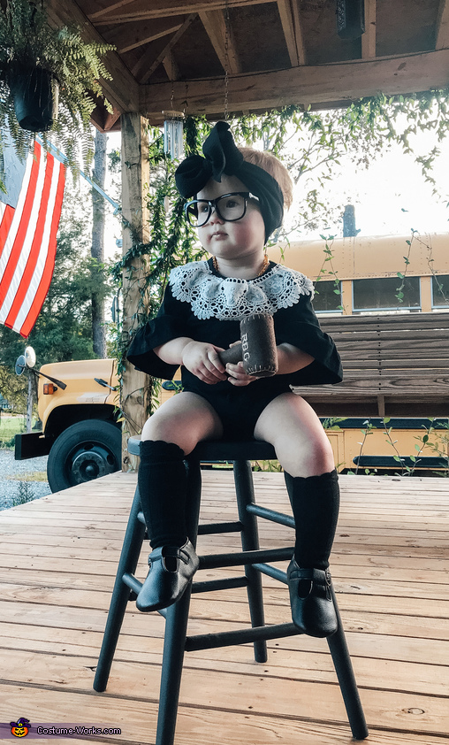 Lil' Miss Ruth Bader Ginsburg Homemade Costume