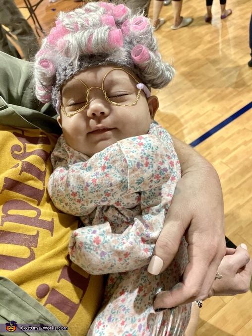 Granny squeezing a nap in, Lil ole' Granny Costume