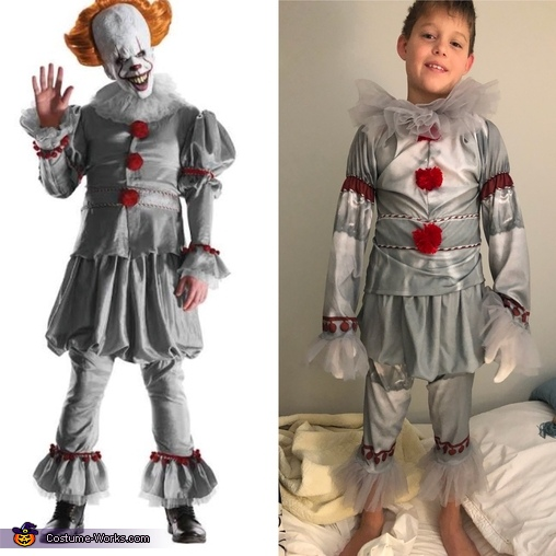 The adult costume we tried to replicate, Lil Pennywise Costume