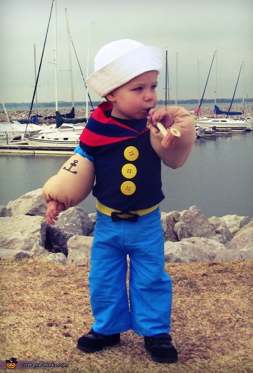 Lil' Popeye the Sailor Man Baby Costume