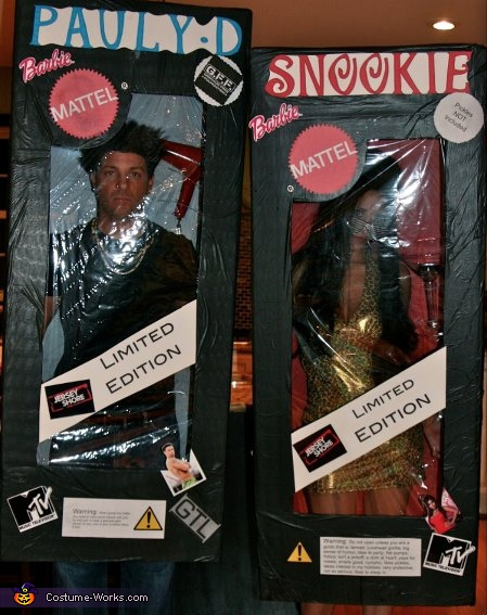 Snooki and Paulie D Barbies - Homemade costumes for couples
