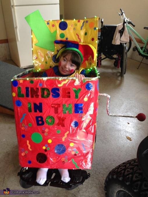 Lindsey in the Box Costume