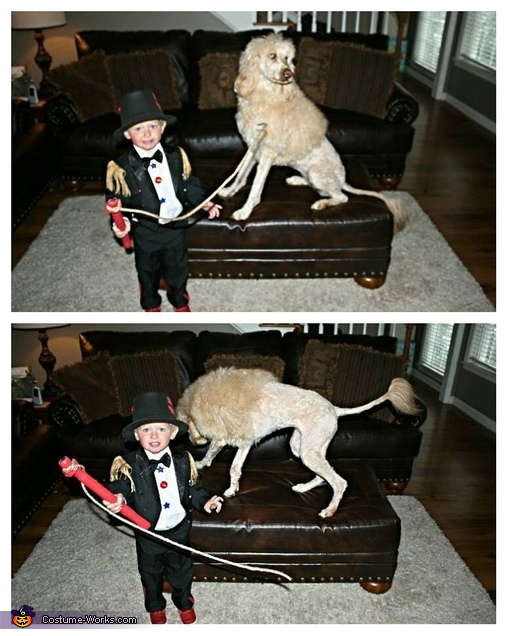 The Lion Tamer and his Lion Homemade Costume