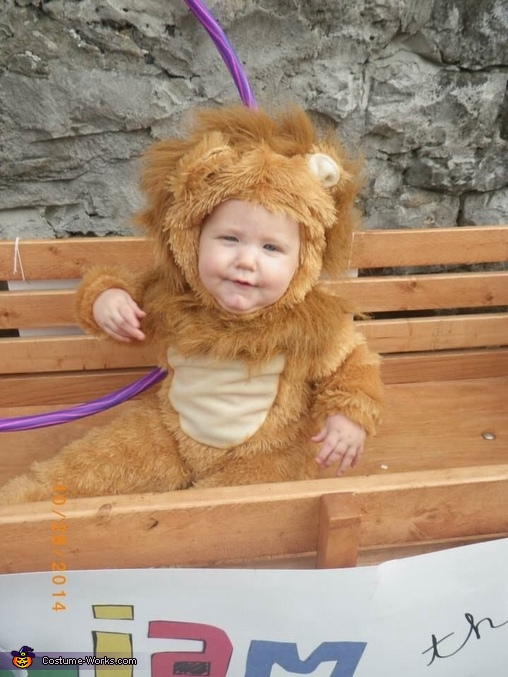 All smiles in his lion outfit, Lion Tamer and Lion Costume