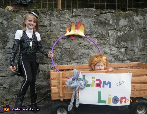 Lion Tamer and Lion Costume