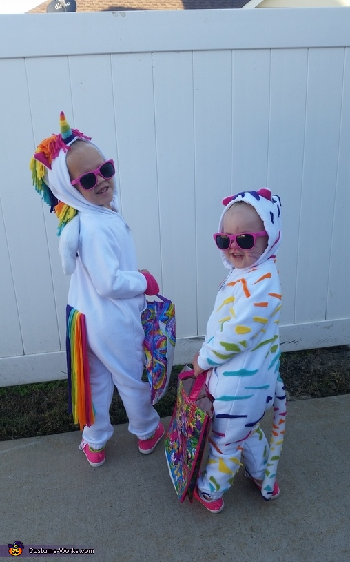 Looking cool in their shades ready for some candy!, Lisa Frank Crew Costume