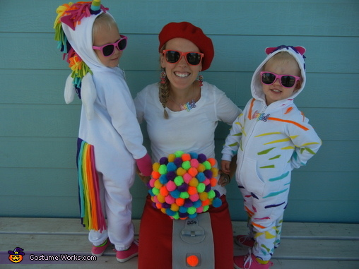 Lisa Frank Mom and Daughters Group, Lisa Frank Crew Costume
