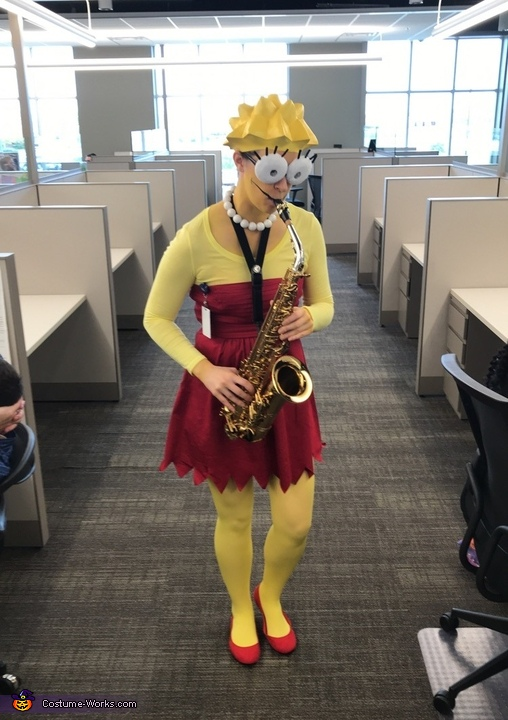 Lisa Simpson Homemade Costume