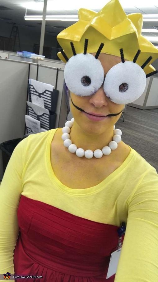 Lisa Simpson Homemade Costume