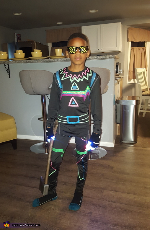 Serious face Lite Show, Lite Show from Fortnite Costume