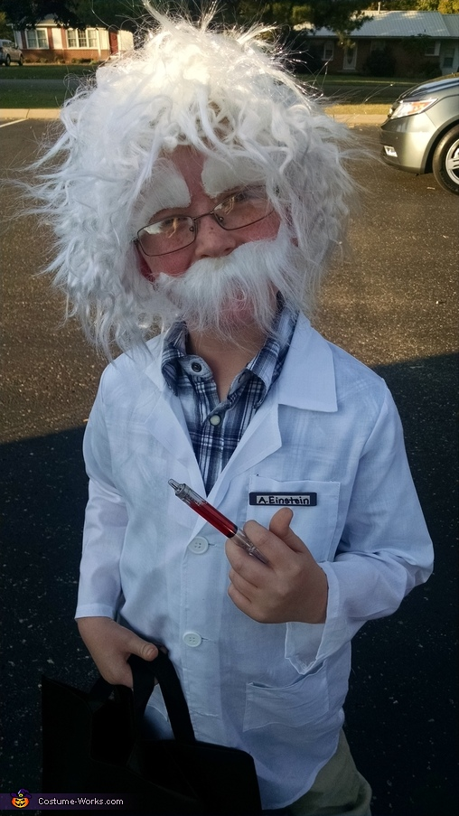 Little Albert Einstein Homemade Costume