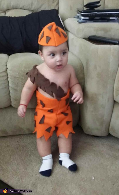 Little Bam Bam Diy Baby Halloween Costume Photo 2 2