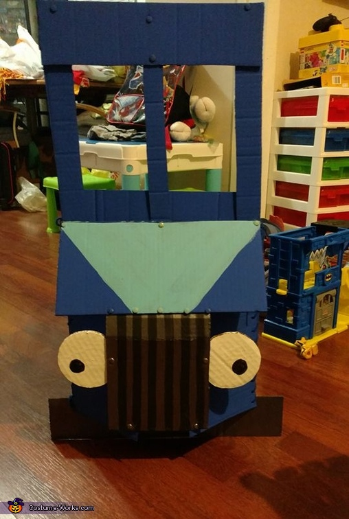 The final product, Little Blue Truck Costume