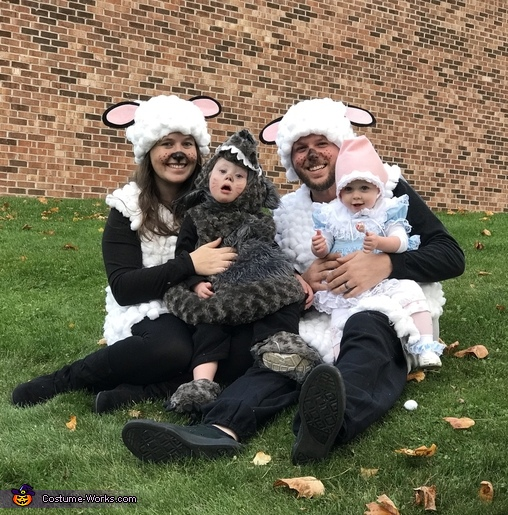 Little Bo Peep, her Sheep, and the Big Bad Wolf Costume