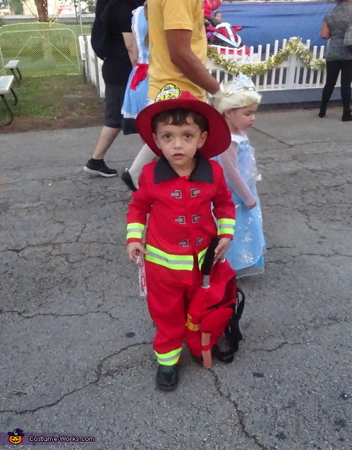 Hot fire chief, Little Boy Fireman Costume