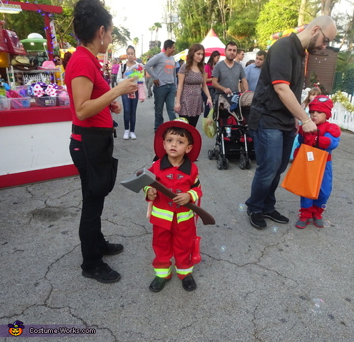 I'm a fireman!, Little Boy Fireman Costume