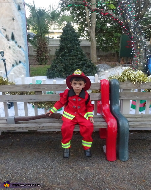 Fire chief on break, Little Boy Fireman Costume
