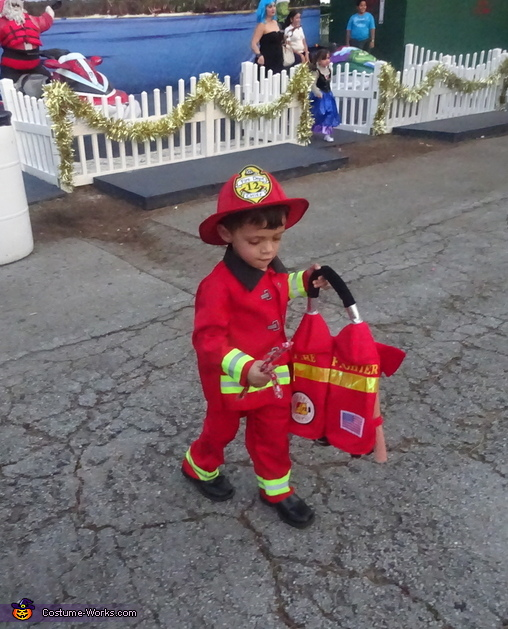 I got candy!, Little Boy Fireman Costume