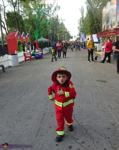 Where is the fire?, Little Boy Fireman Costume