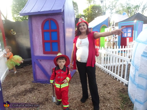 Firechief on duty, Little Boy Fireman Costume