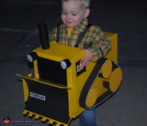 Little Bulldozer Homemade Halloween Costume