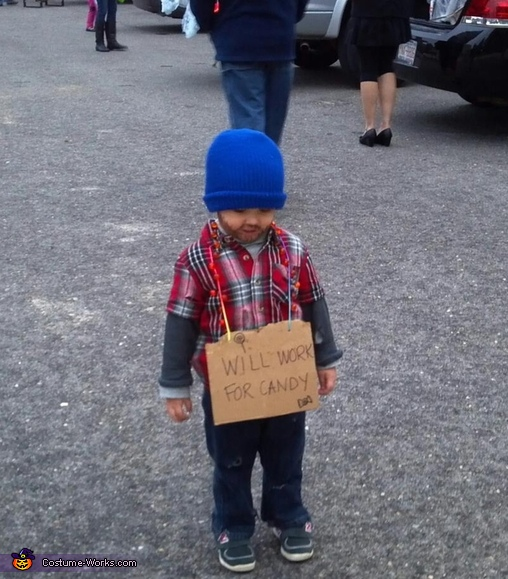 Little Hobo Homemade Halloween Costume