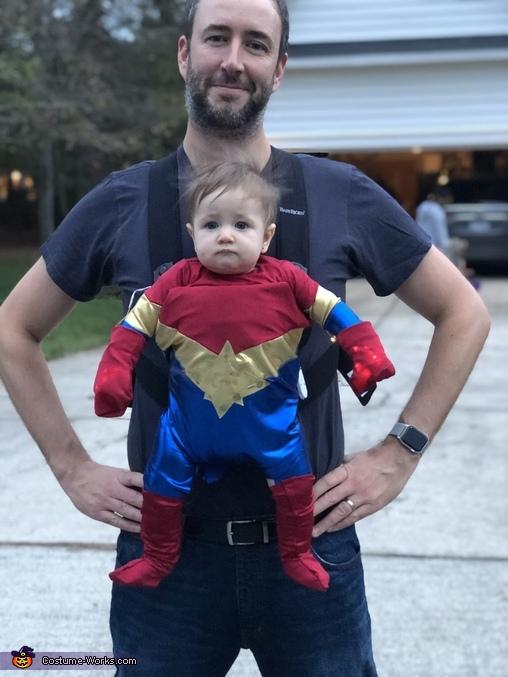Little Captain Marvel Costume