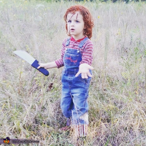 Little Chucky Homemade Costume