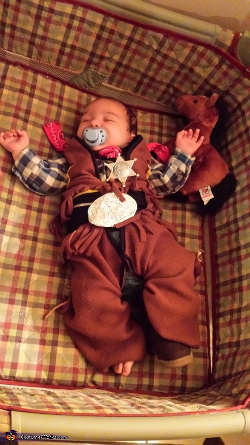 All tuckered out, Little Cowboy Baby Costume