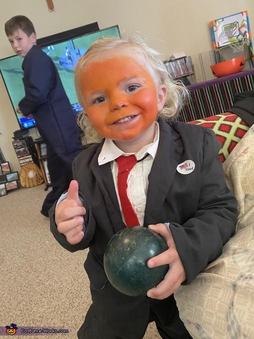 Little Donald Trump Homemade Costume