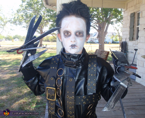 Little Ed Scissorhands - Homemade costumes for boys