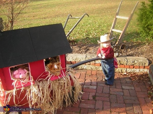 Little Farmer Baby Homemade Costume