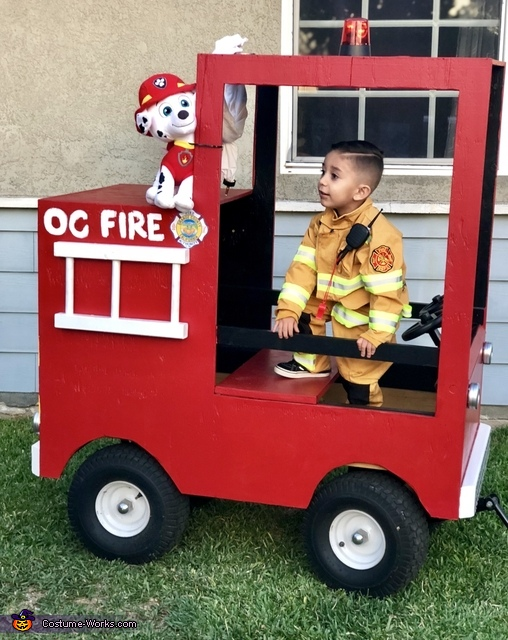 We got a call, Little Fire Fighters Costume