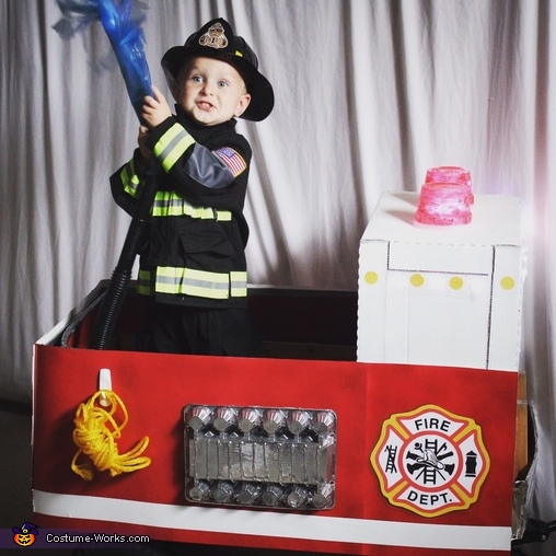 Little Firefighter and His Truck Costume
