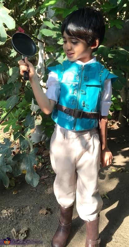 'Frying pans....who knew, right?!', Little Flynn Rider Costume
