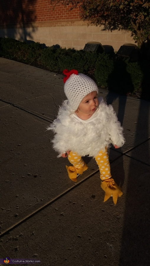 Little Free Range Chicken Homemade Costume