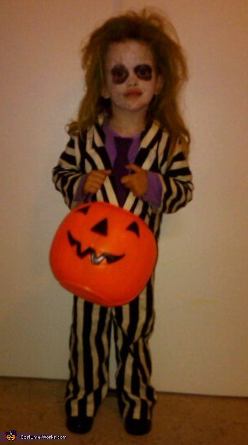 Little Girl Beetlejuice Homemade Costume