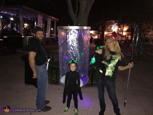 Little Girl Catching Lightning Bugs in a Jar Homemade Costume
