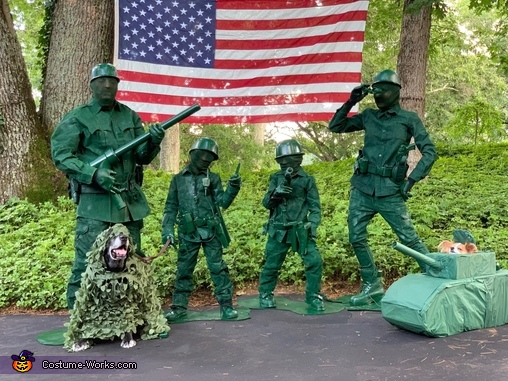 Little Green Army Men Family Costume
