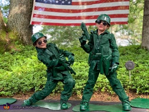 Little Green Army Men Family Homemade Costume