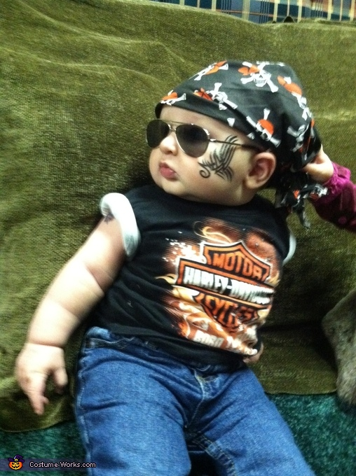 Little Harley Man Baby Costume