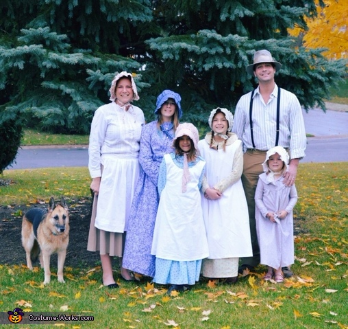 Little House on the Prairie Family Costume