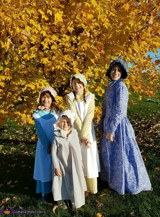 Girls, Little House on the Prairie Family Costume