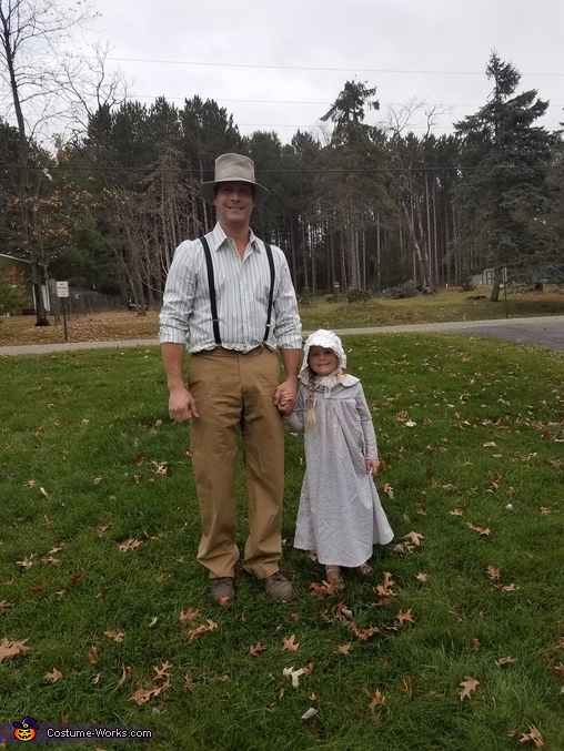 Pa with Grace, Little House on the Prairie Family Costume