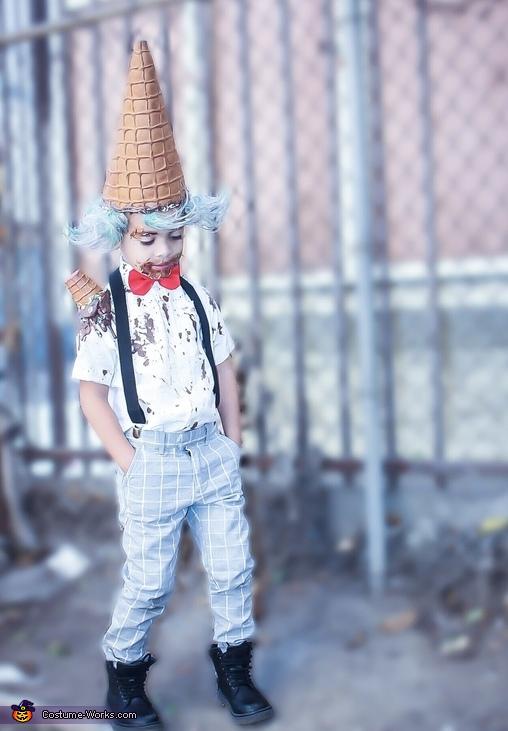 Jandel Jioni as the lil ice cream man, Little Ice Cream Man Costume