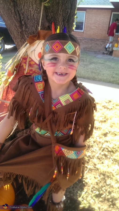 Little Indian Princess Homemade Costume