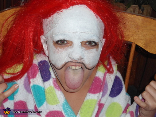 Got the wig glued on!, Little Insane Clown Costume